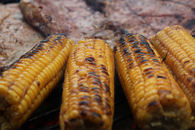 Barbequed mealies
